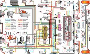 Электросхема, предохранители и реле ВАЗ 2101