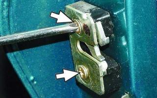 Внутренний замок водительской двери ваз 2110, схема, снятие и регулировка