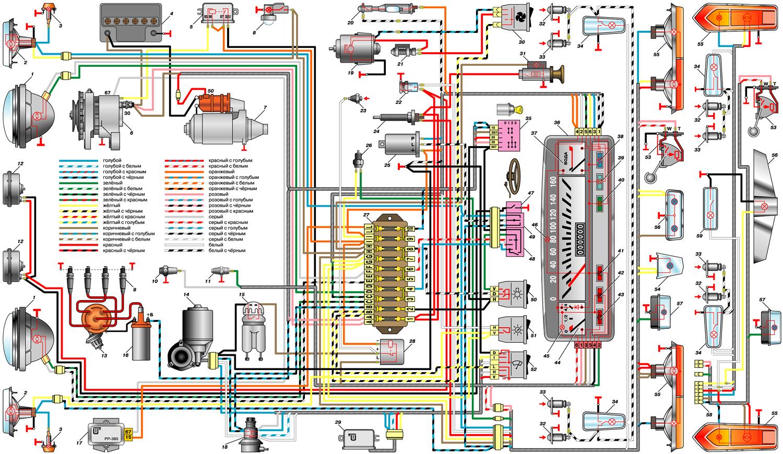Схема подключения проводов реле в ваз 2101