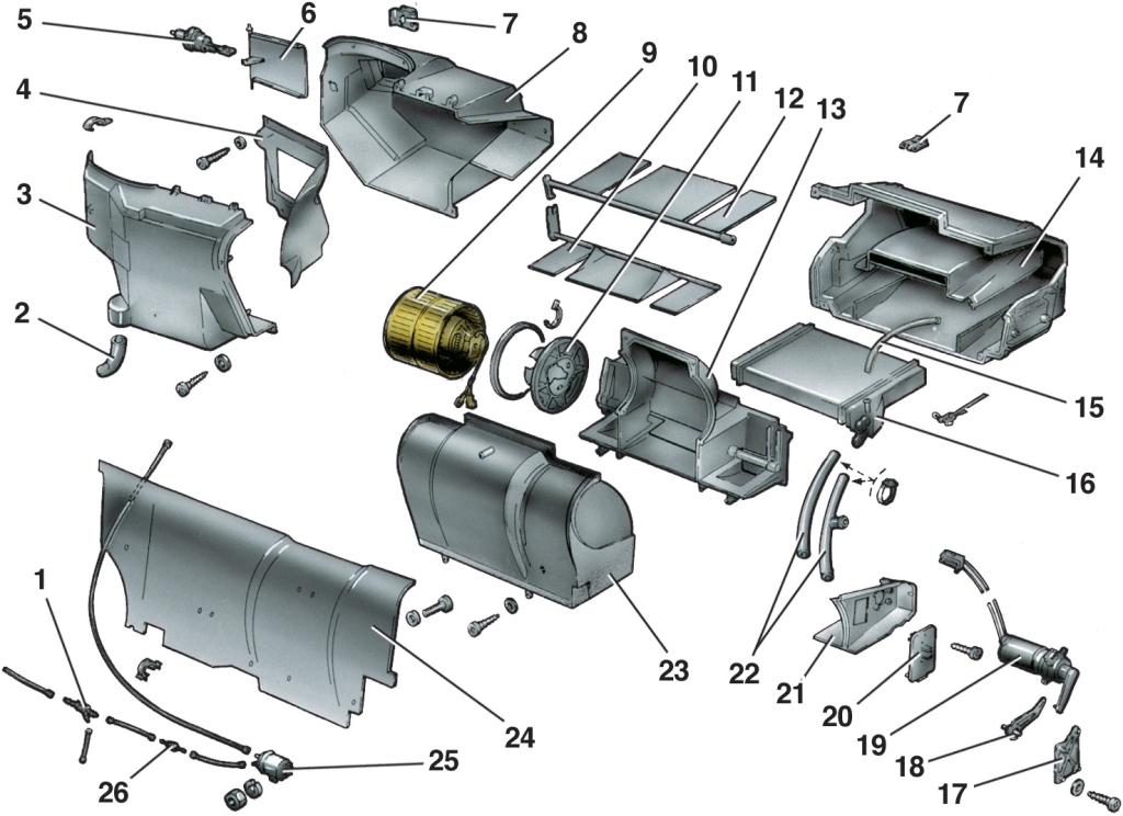 Отопитель ВАЗ 2110