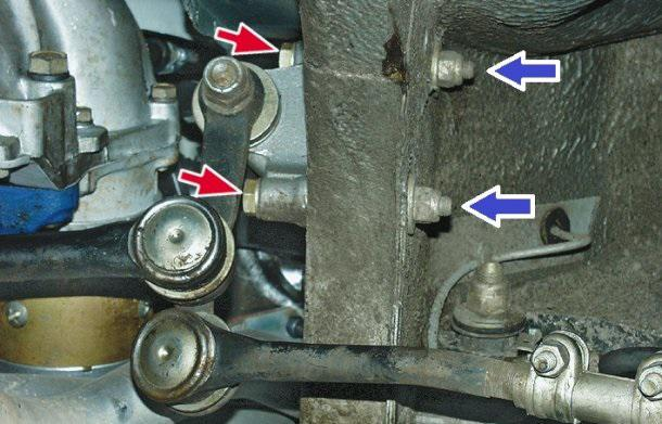 Расположение маятника на ВАЗ 2107