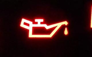 Лампа моторного масла, причины по которым загорается