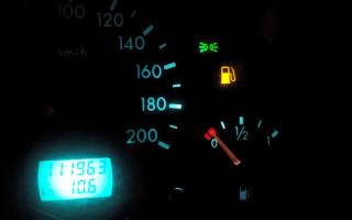 Если нет бензина как ведет себя машина