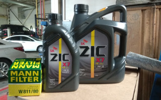 Моторное масло zic 0w20