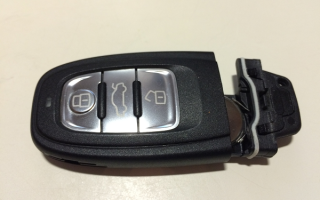 Как открыть ключ от ауди для замены батарейки