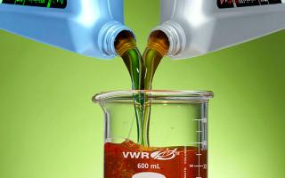 Масла моторные, полусинтетика и синтетика, смешивание