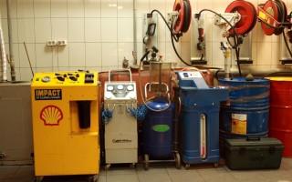 Аппарат по замене моторного масла, разновидности